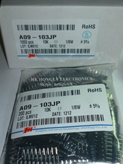 network resistor A09-103JP  9PIN 10K 5%  200/bag