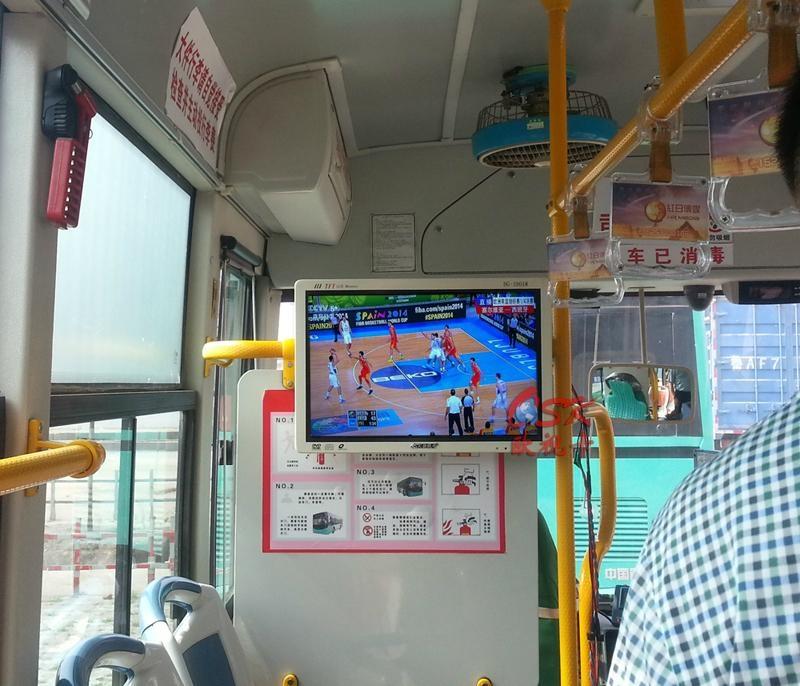 19寸背挂车载广告机  公交车载电视 1