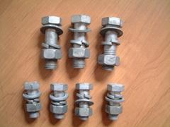 热镀锌螺栓螺母,配平垫圈和弹簧垫圈
