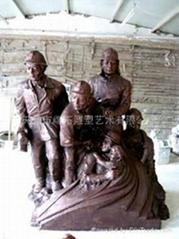 天津某消防部隊人物群雕