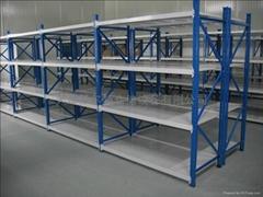 工厂用货架仓储物料架中型层板货架塑料箱存放架