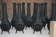 round outdoor cast iron chimineas