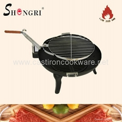 charcoal rotating BBQ grill fire bowl