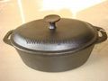 CAST IRON oval casserole