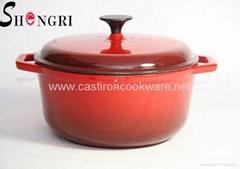 Shengri Top quality Cast Iron Enamel Casseroles