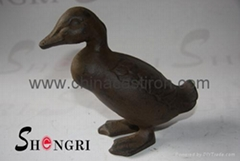 cast iron statue-duck