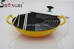 cast iron wok