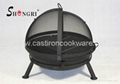 BBQ grill with rotating net cover 1