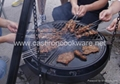 Small size cast iron portable fire pit grill