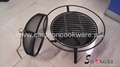 Barbecue grill with spark cover