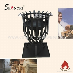 garden brazier fire basket with