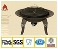 totally cast iron fire bowl with bbq grill  2