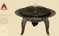 totally cast iron fire bowl with bbq grill  3