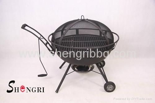 totally cast iron fire bowl with bbq grill  5