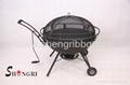 totally cast iron fire bowl with bbq grill