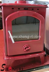 casting iron wood fuel stove fireplace