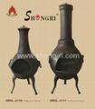 Shengri heavy weight cast iron chiminea