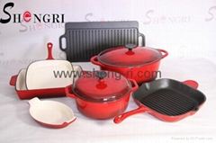 cast iron enamel cookwar