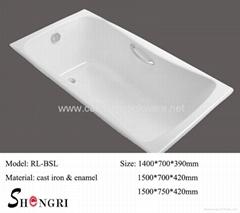 cast iron bathtub for small bathroom
