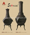 different sizes cast iron chiminea with