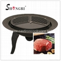Totally cast iron fire bowl with pre-seasoned grill