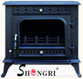 Freestanding cast iron wood stoves