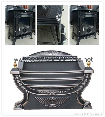 15KW Insert fireplace with fire basket