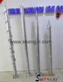 Q235 ground screw  in low price
