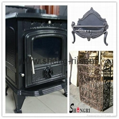 casting iron stove fire basket