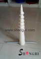 Nylon screw piling for fence