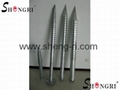 Adjustable Galvanized Steel Ground Anchor, ISO9001:2008