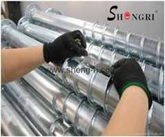 Hot-dip Galvanized Ground Screw for solar power system and fences