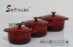 Enamel coating cast iron pot