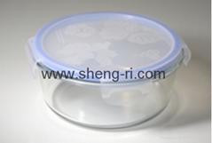 Borosilicate glass storage food containers set