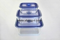 3-pcs  Glass  Food Storage Containers, Rectangle