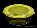 Round Vacuum  Glass 3 Container Food Storage Set