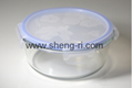 Round Glass Food Container  Lunch Storage Box