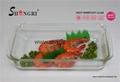 2.8L Rectangular glass baking dish
