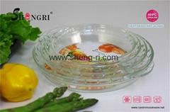 borosilicate glass baking pie dish