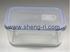 Kitchen appliances extends food freshness glass food container with lid