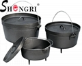 Cast Iron Cookware Dutch Oven Pre-Seasoned Pot