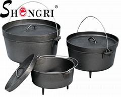 Cast Iron Cookware Dutch Oven Pre-Seasoned Pot