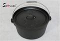 Cast Iron Dutch Oven Cookware Vegetables Oil Outdoor Pot