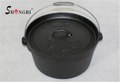 Cast Iron Dutch Oven Cookware Vegetables Oil Outdoor Pot