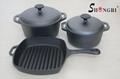 SR064 Cast Iron Cookware Pre-seasoned Casseroles With Lid