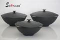 High Quality Cast Iron Big Pre-seasoned Wok With Four Handle