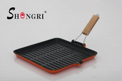 Round Shape Grill Pan wi