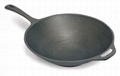 Cast Iron Cookware Pre-Seasoned Coating Wok With Handle