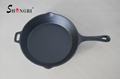 Cast Iron Cookware Fry Pan Pre-seasoned Skillet for Kitchen