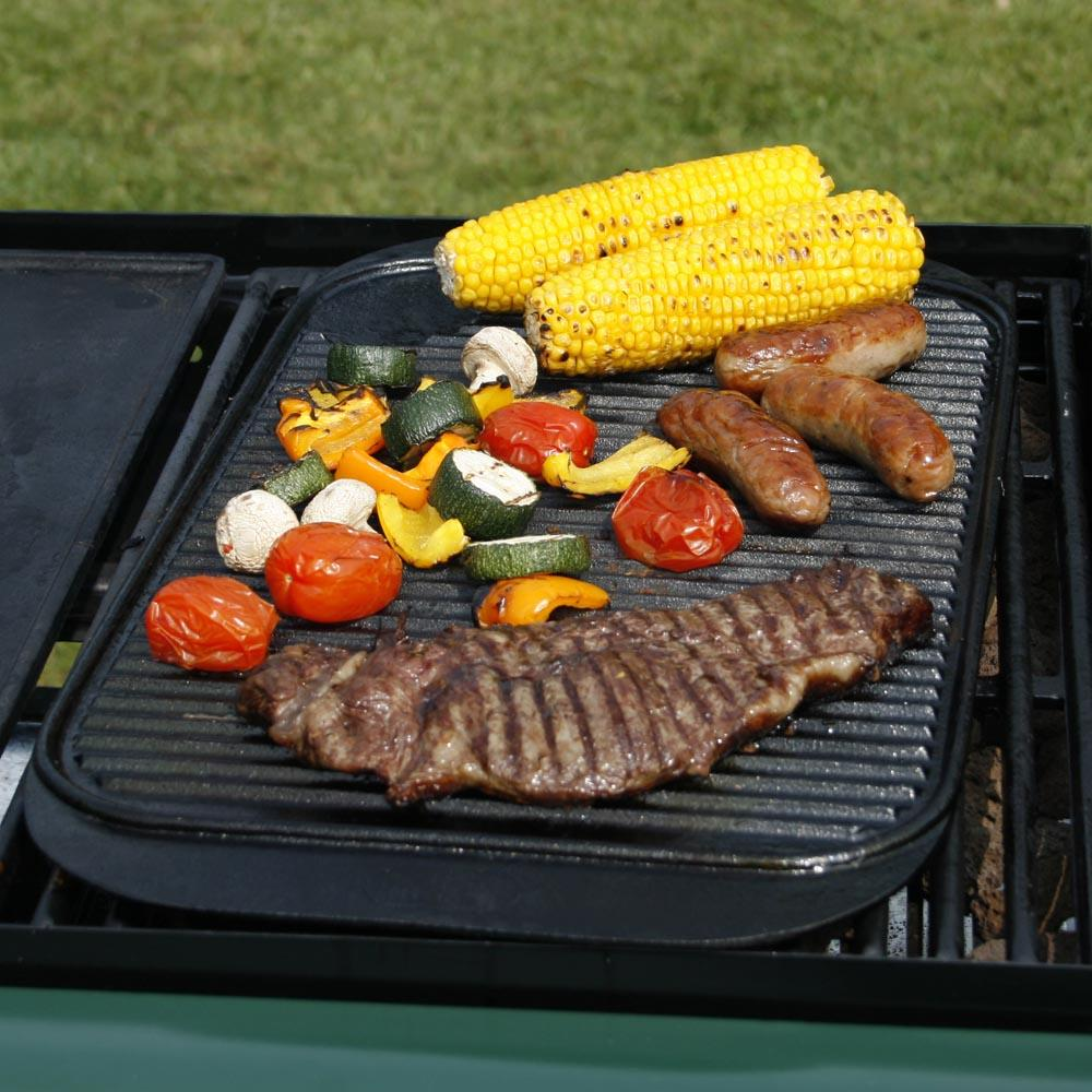 Square Camping Grill Plate BBQ Cookware 9